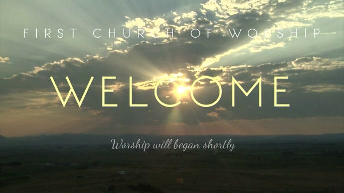 Church Display Welcome Video