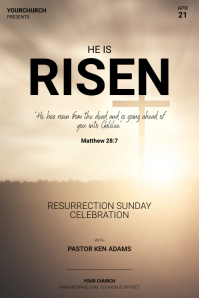 Church Easter Celebration Flyer Template