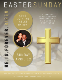 Church Easter Event Flyer Poster Template