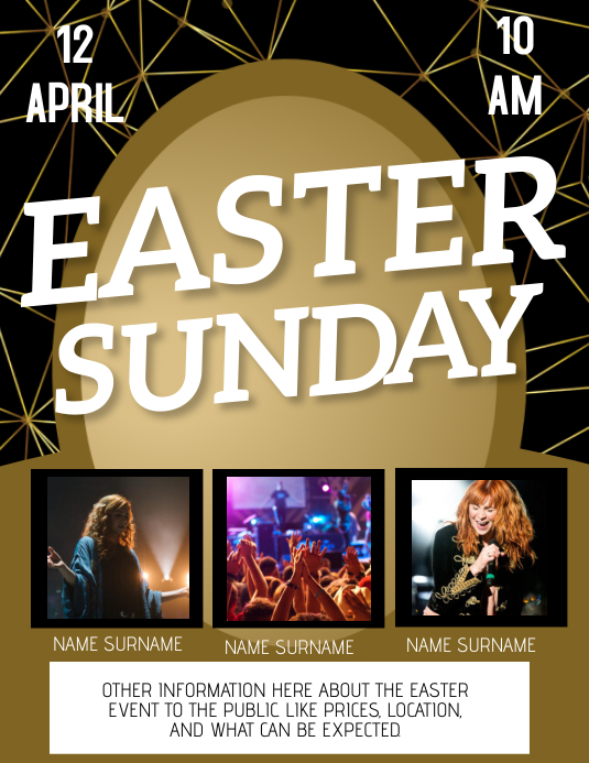 Church easter event Flyer Template