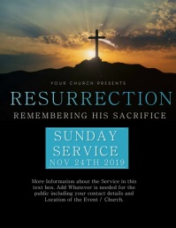 Church Easter Service Event Flyer Template