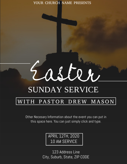 Church Easter Service Event Template