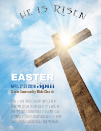 Church Easter Service Flyer