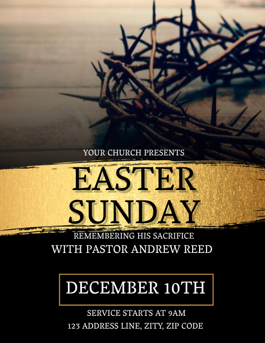 Church Easter Sunday Flyer Template