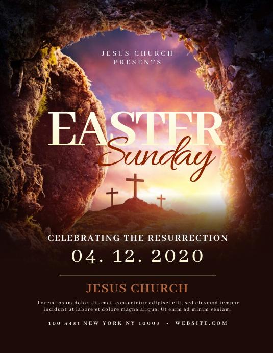 Church Easter Sunday Flyer Templates Folder (US Letter)