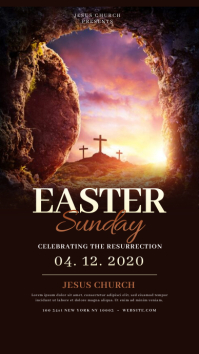 Church Easter Sunday Instagram Templates Instagram-Story