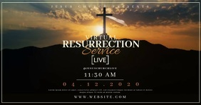 Church Easter Sunday LIVE Templates Imagen Compartida en Facebook