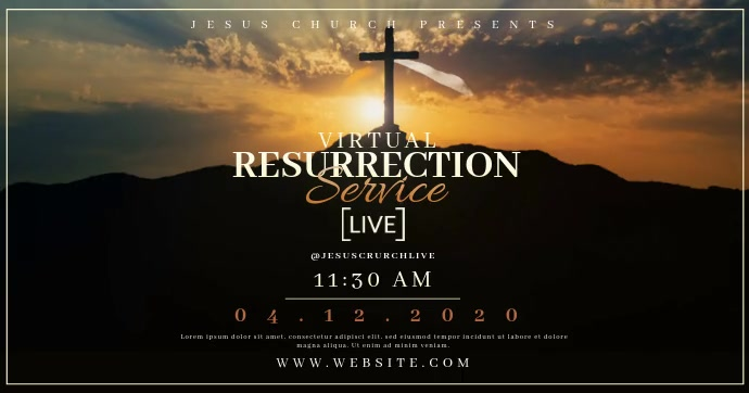 Church Easter Sunday LIVE Templates Facebook Shared Image