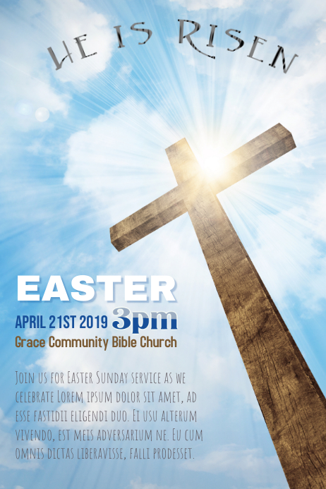 Church Easter Sunday Poster
