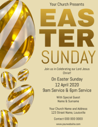 Church Easter Sunday Service Flyer template
