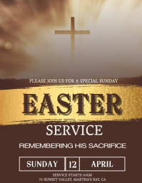 Church Easter Sunday Service Template