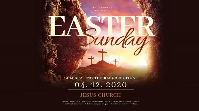 Church Easter Sunday Templates Apresentação (16:9)