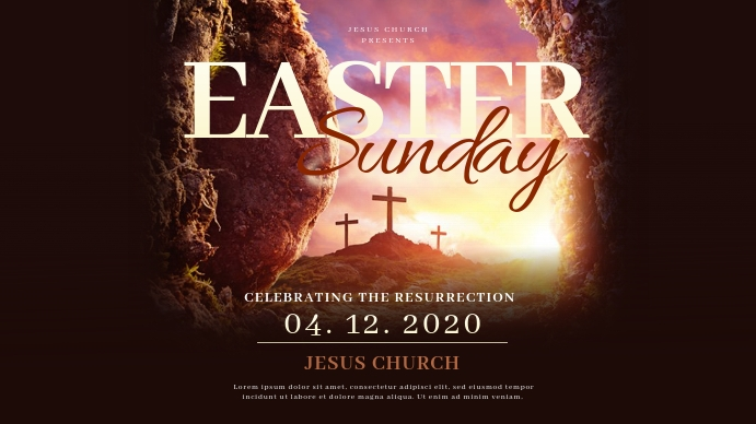 Church Easter Sunday Templates Презентация (16 : 9)