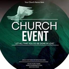 CHURCH EVENT AD Square (1:1) template