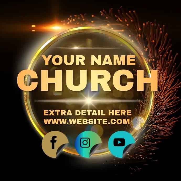 CHURCH EVENT AD INSTAGRAM TEMPLATE Logo