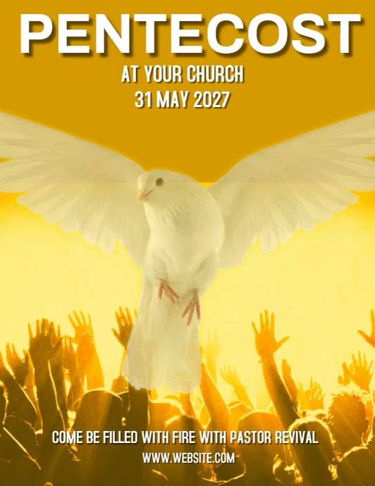 CHURCH EVENT AD SOCIAL MEDIA DIGITAL VIDEO Pamflet (Letter AS) template