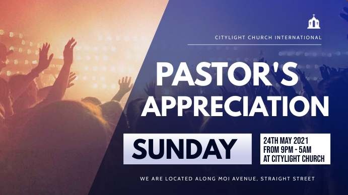 church event flyer Pantalla Digital (16:9) template