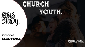 church event flyer Twitch Banner template