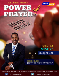 Church event flyer Ulotka (US Letter) template
