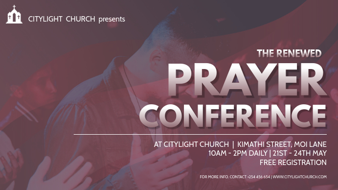 church event flyer Digitale Vertoning (16:9) template