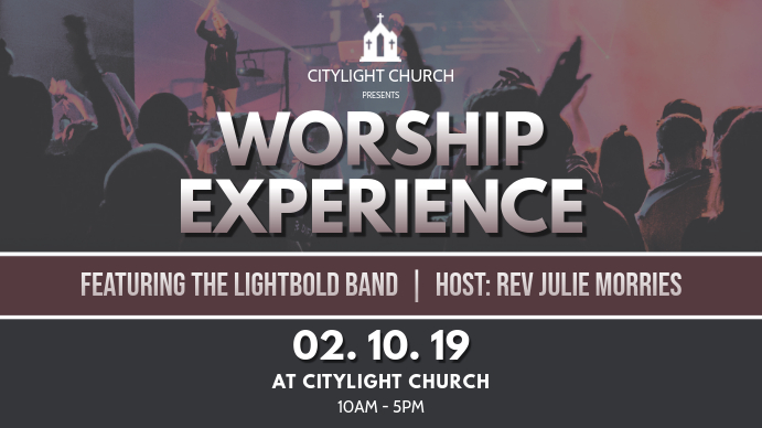 church event flyer Digital na Display (16:9) template