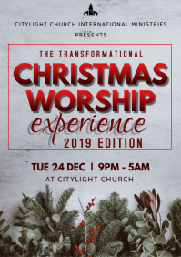 church event flyer A3 template
