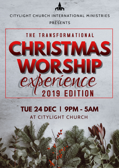 church event flyer A3 template