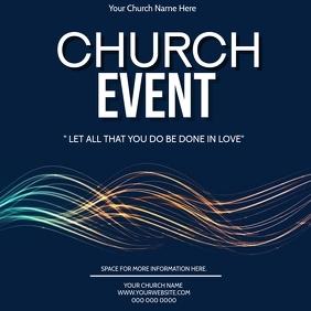 Church Event Flyer Template Persegi (1:1)