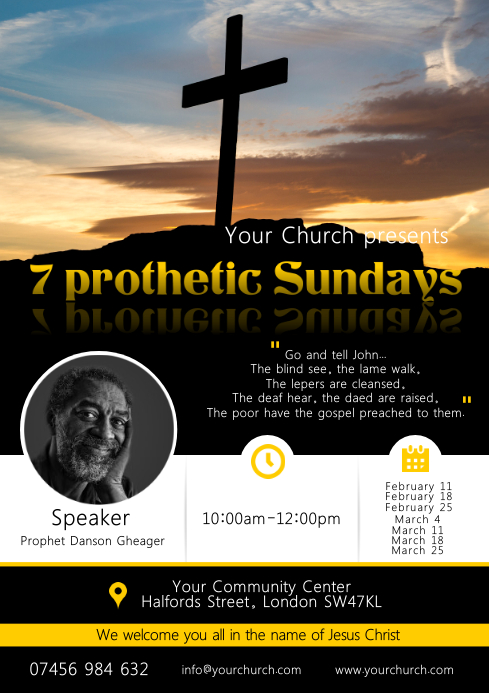 Church Event Poster A4 template