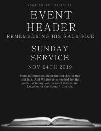 Church Event Service Flyer Template