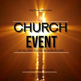 Church Event Video Digital Flyer Template