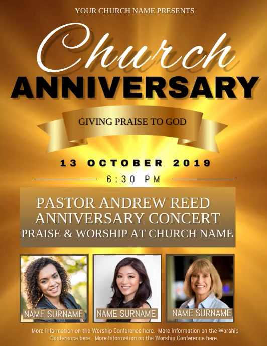 Church Event Video Flyer Template