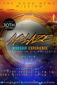Church event video template Plakat