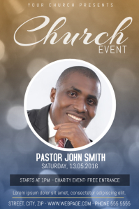 Church Event FLyer Template With One Photo