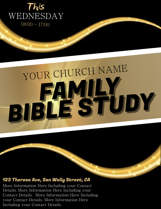 Church Family Bible Study Flyer Template