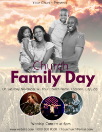 Church Family Fun Day Event Flyer Template