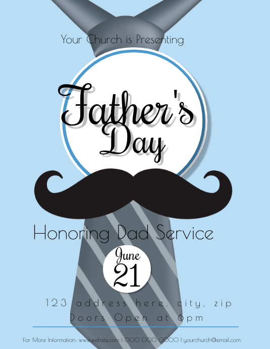 Church Father's Day Event Flyer Template