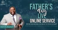 church FATHER'S DAY online from home template auf Facebook geteiltes Bild