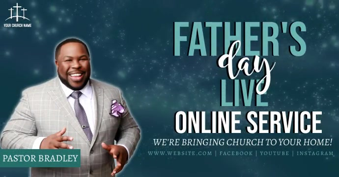 church FATHER'S DAY online from home template Facebook 共享图片