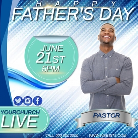CHURCH FATHER'S DAY SERVICE AD TEMPLATE