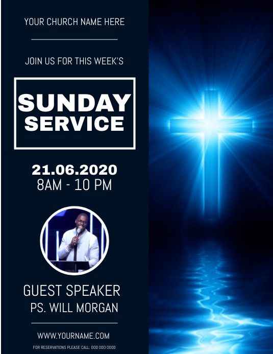 Church FATHER'S DAY SERVICE Flyer Template