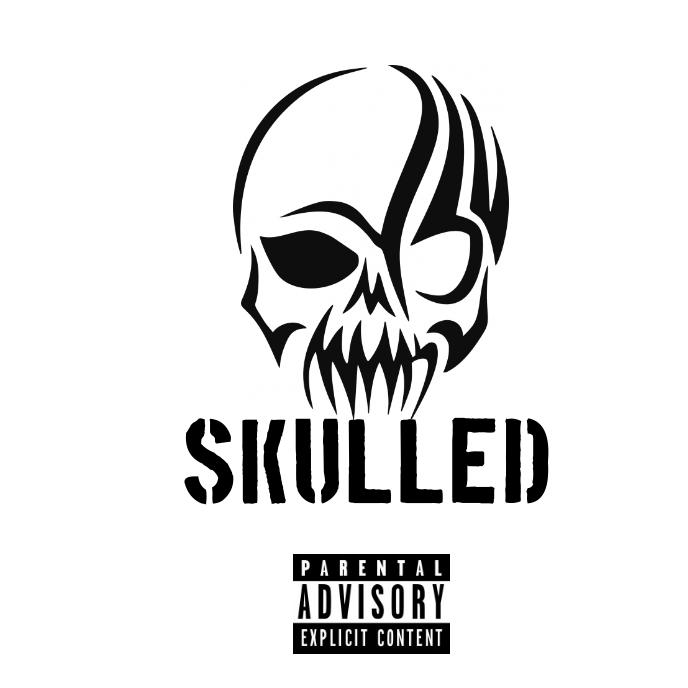 SKULL LOGO ALBUM CD COVER template