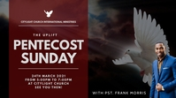 church flyer (PENTECOST SUNDAY Digitalanzeige (16:9) template