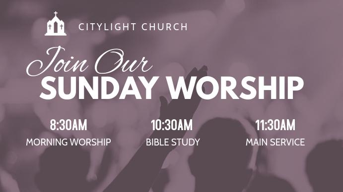 church flyer Digital na Display (16:9) template