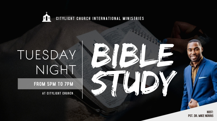 church flyer Digitale display (16:9) template