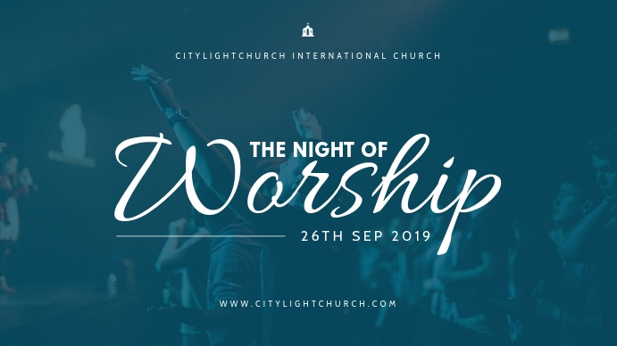 church flyer Digitale display (16:9) template