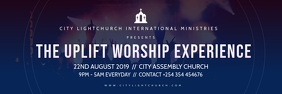 church flyer Banner 2' × 6' template