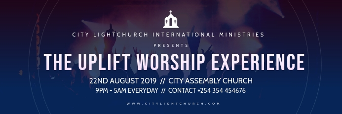 church flyer Banner 2 x 6 fod template