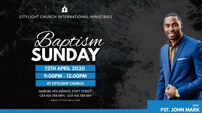church flyer Digitalt display (16:9) template