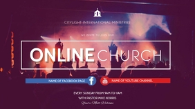 church flyer Digitalanzeige (16:9) template